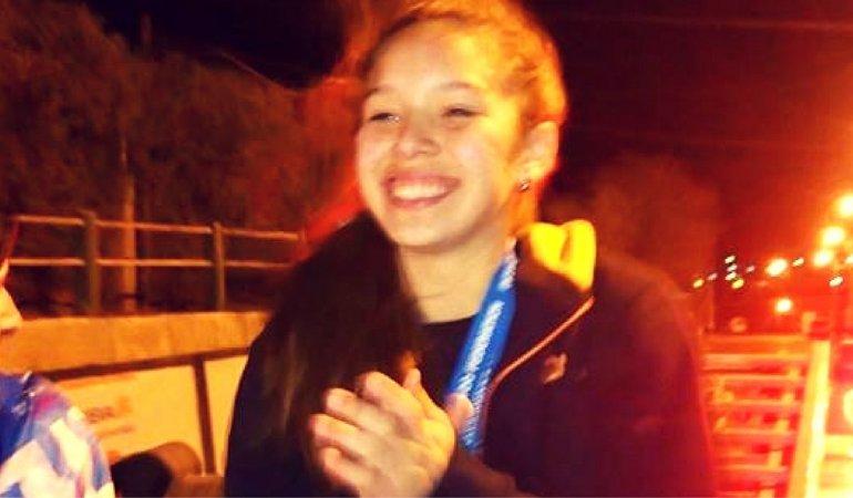 Leila Ramos llegó anoche a la ciudad y fue recibida por una multitud