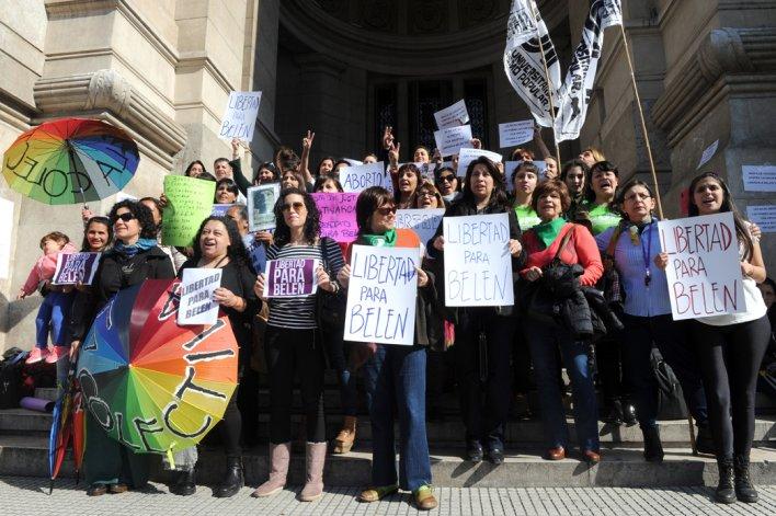 El Comité por la Libertad para Belén en Buenos Aires se concentró frente al Palacio de Justicia de la Nación.