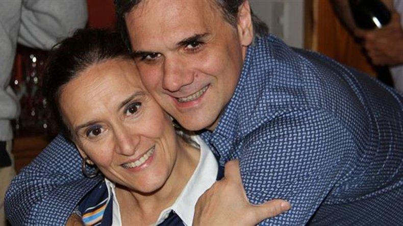Gabriela Michetti y su pareja Juan Tonelli.