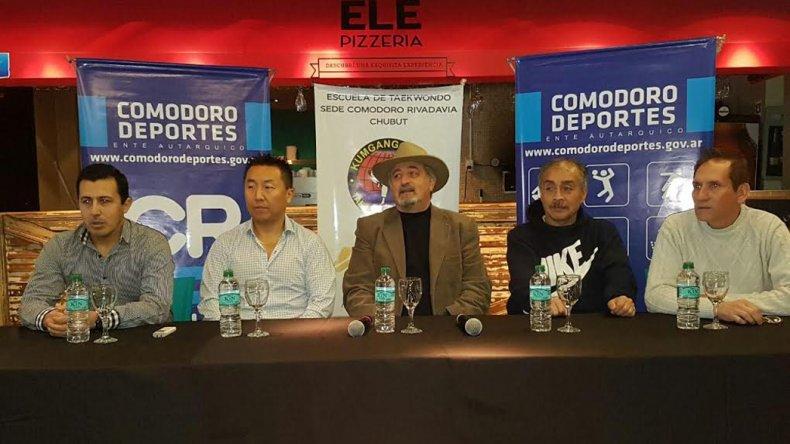 La presentación del Open Patagónico de taekwondo se realizó ayer en horas del mediodía en Ele.