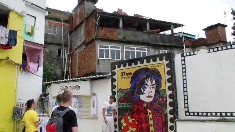 La favela Santa Marta es conocida gracias al video que filmó Michael Jackson en 1996