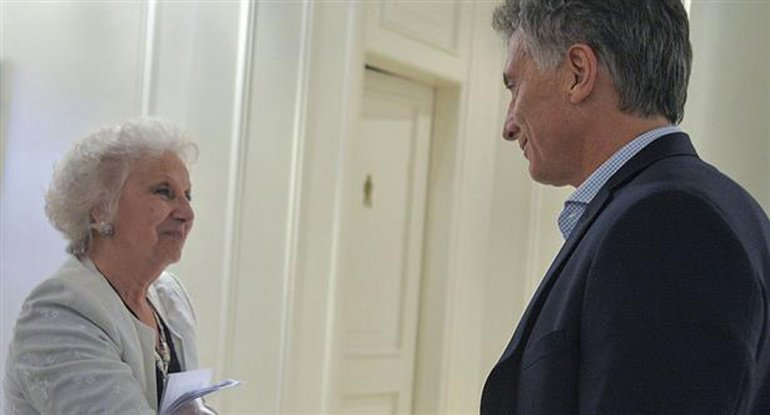 Carlotto advirtió al Presidente que no permitirán retrocesos en Derechos Humanos.