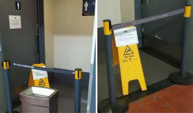 Desde el viernes no funcionan los baños en el aeropuerto