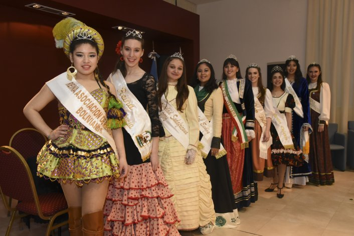 Nueve candidatas buscarán coronarse como la reina de las Comunidades Extranjeras
