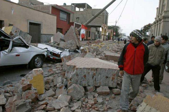 Fuerte sismo en el sur de Perú.