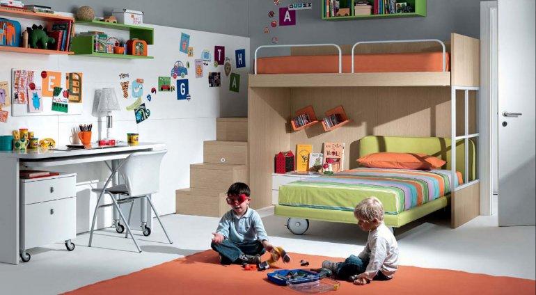 El dormitorio de los niños:  un lugar seguro para soñar