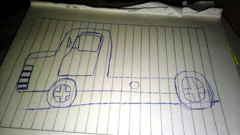 Dibujo realizado por el menor.