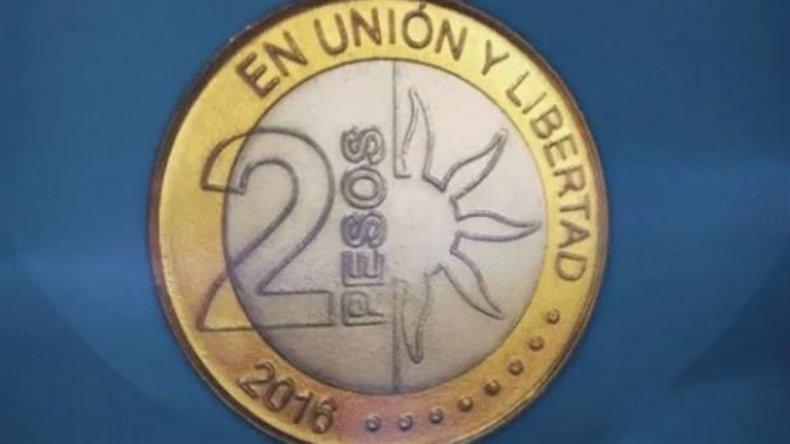 Así es la moneda de 2 pesos que conmemora el Bicentenario de la Independencia