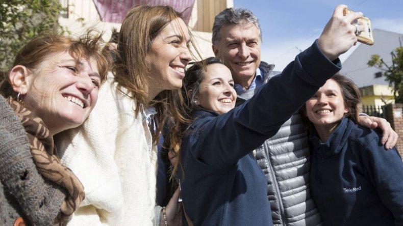 Macri recorrió San Miguel junto a la gobernadora Vidal.