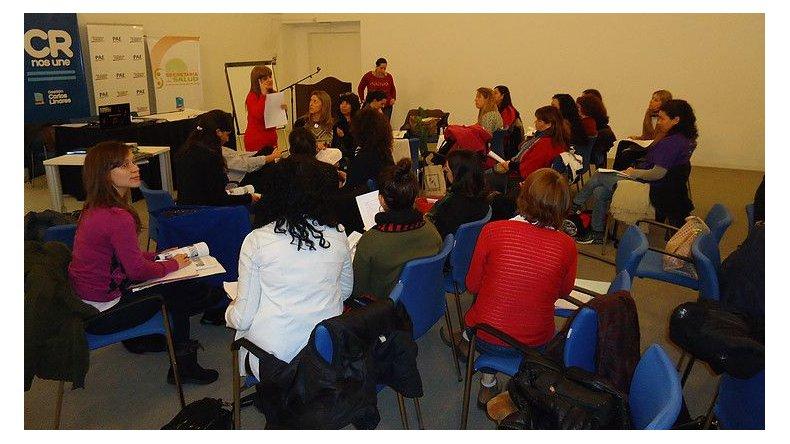 Los participantes de la capacitación organizada por la Fundación Crecer y la Asociación de Pediatría.