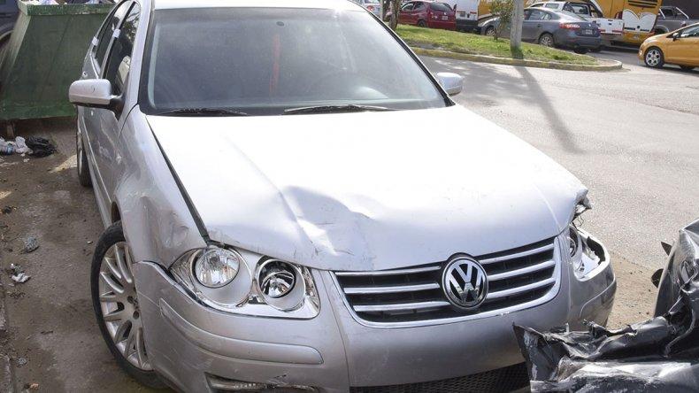 El Volkswagen Bora que conducía Ezequiel Barros.