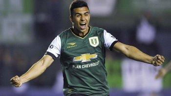 Jorge Rodríguez abrió la apertura en el marcador en el triunfo de Banfield anoche ante San Lorenzo.