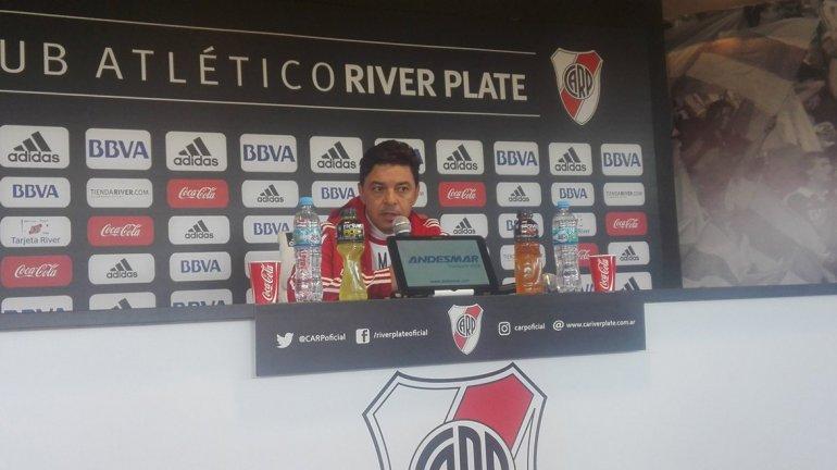 Marcelo Gallardo espera que mañana River vuelva a sumar un título internacional.