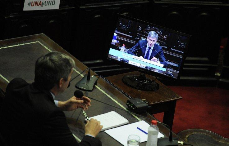 Marcos Peña expuso en Diputados el segundo informe de gestión de gobierno.