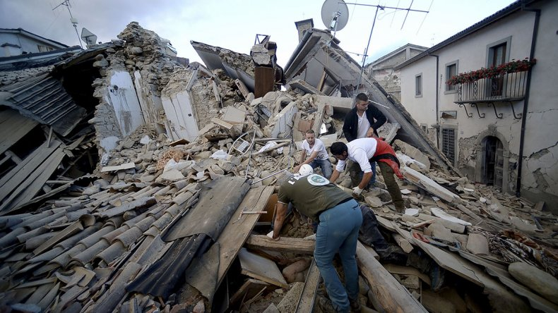 Desastre en Italia por un terremoto en el centro del país.