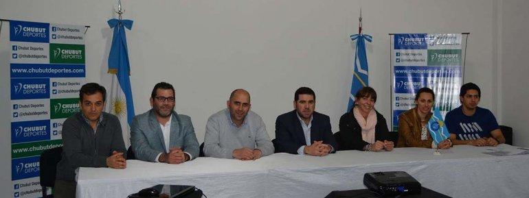Aspecto de la reunión que se llevó a cabo ayer en las instalaciones de Chubut Deportes.