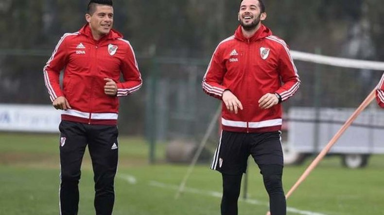 El paraguayo Jorge Moreira y Marcelo Larrondo son dos de los refuerzos que se incorporaron a River.