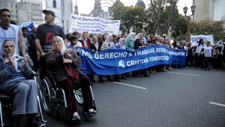 Marcha de la Resistencia contra el Gobierno de Mauricio Macri