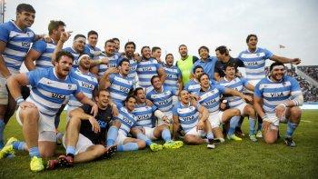 Los Pumas festejan la trabajada victoria en Salta.