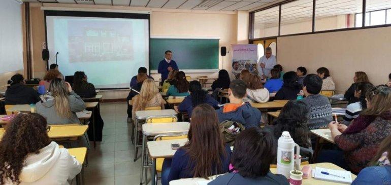La capacitación se desarrolló en la sede Comodoro Rivadavia de la Universidad Nacional de la Patagonia San Juan Bosco.