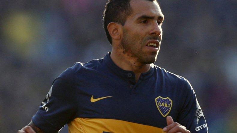 Carlos Tevez de Boca Juniors que esta noche tendrá una difícil visita a La Fortaleza granate.