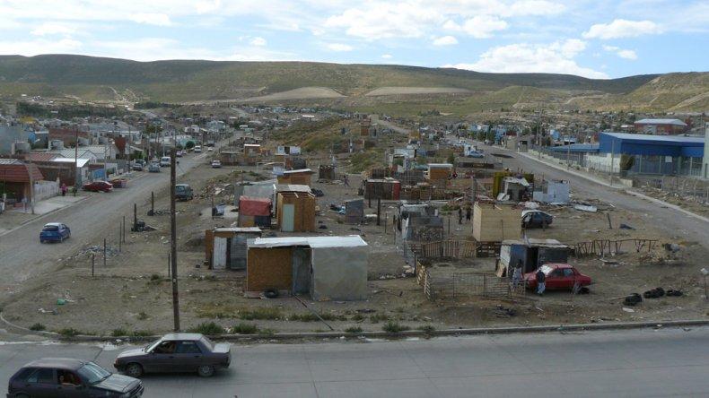 Uno de los sectores de la zona sur de Comodoro Rivadavia donde se consolidaron los asentamientos.