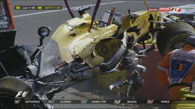 Así quedó un Fórmula 1 que chocó a más de 320 km/h