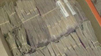 También fueron incautados más de 500 mil pesos en efectivo.