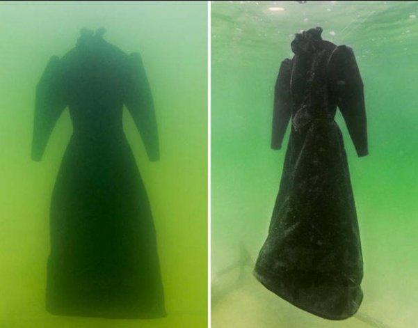 Sumergieron un vestido en el Mar Muerto: mirá el increíble resultado