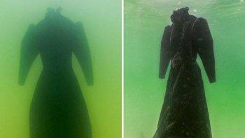 sumergieron un vestido en el mar muerto: mira el increible resultado