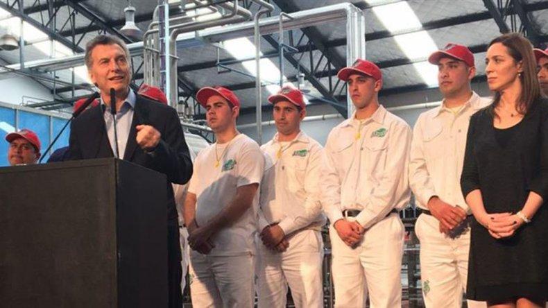 Macri habló de los sindicatos en la fábrica de Manaos.
