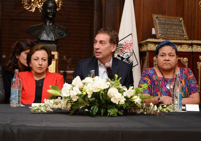 La Legislatura porteña homenajeó a las premios Nobel de La Paz