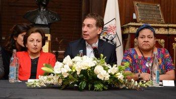 La Legislatura porteña homenajeó a las premios Nobel de La Paz, Rigoberta Menchú y Shirin Ebadi.
