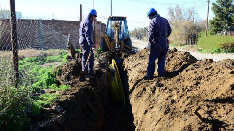 El avance de la primera etapa de la obra que se desarrolla en el barrio Malvinas.