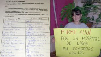 madres de comodoro juntan firmas para exigir un hospital pediatrico
