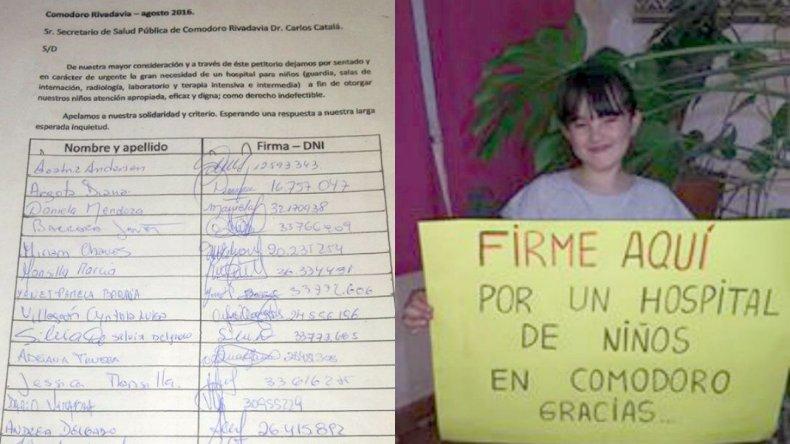 Madres de Comodoro juntan firmas para exigir un Hospital Pediátrico