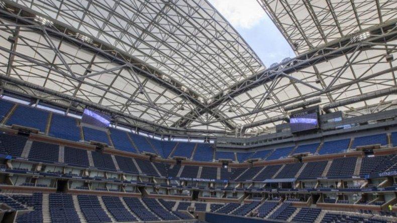 Se cerró por primera vez el techo durante el US Open