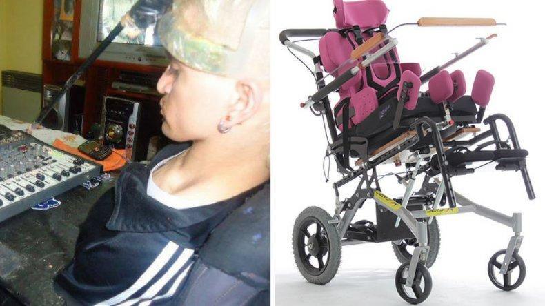 Necesita la solidaridad de la gente para conseguir una silla postural
