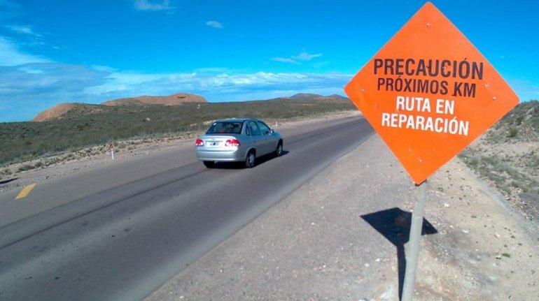 Piden señalizar el tramo entre Sierra Grande y el límite con Chubut. Foto: Río Negro (Miguel Velazquez)