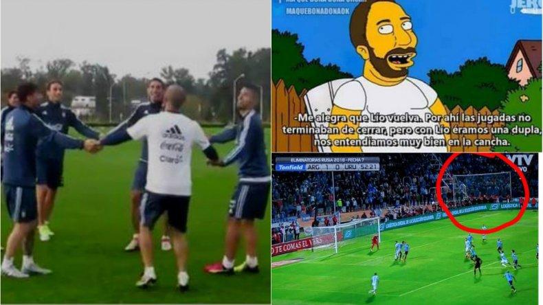 Argentina ganó y los hinchas se acordaron de Higuaín