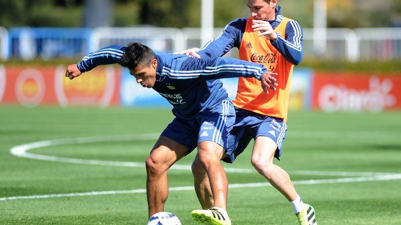 La selección argentina trabajó ayer en el predio de Ezeiza.