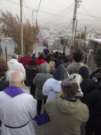 En el Balcón del Paraíso se realizó la misa y procesión por la festividad de El Nazareno.