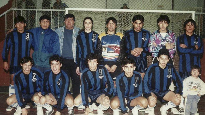 El equipo de La Cigarra que salió campeón cinco años consecutivos.