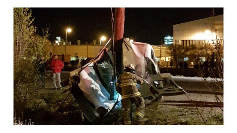 Madryn: murió un hombre al chocar contra un poste