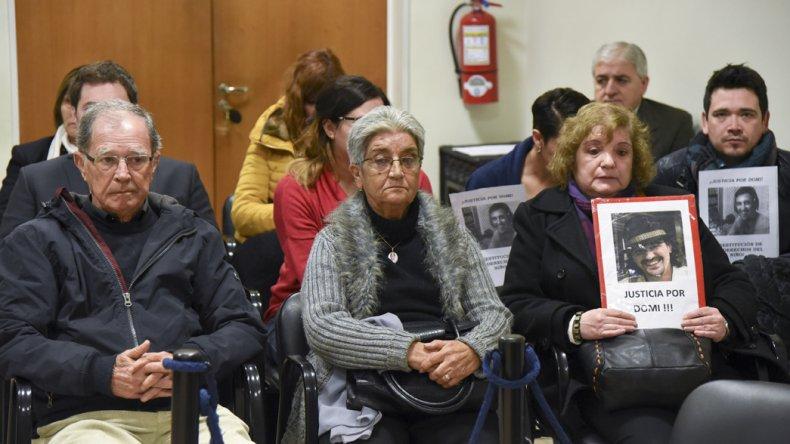 Los padres de Domingo llegaron expresamente desde Fuengirola para estar presentes en el juicio.