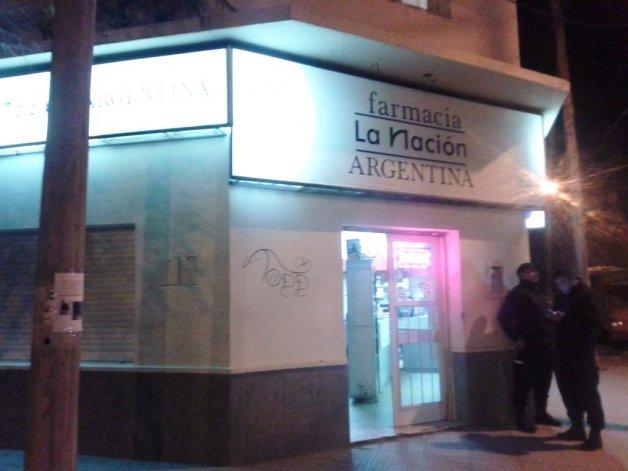 Robo a la farmacia La Nación Argentina. Foto: vía Twitter de Marcelo Vidal