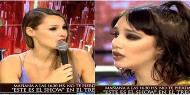Tenso cruce de Pampita con Ángela Torres