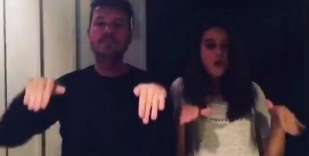 Marcelo Tinelli bailó una coreografía junto a su hija Juana
