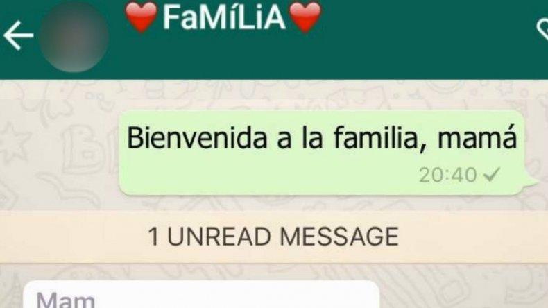 Agregó a su mamá al grupo de WhatsApp y su primer mensaje se hizo viral