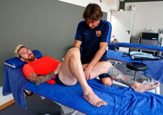 Así está Messi después de la lesión